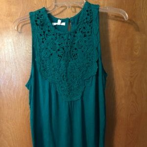 NWT Crotchet maurices tank top